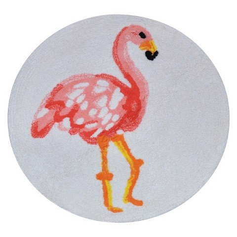 Flamingo-Bath-Rug-Multicolored-Pillowfort