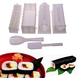 10Pcs Kitchen Futuristic Cosy Dinner Healthy Sushi Maker Kit Rice Mold Making Set