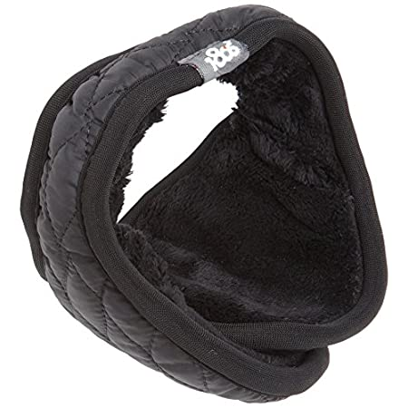 This faux fur lined ear warmer is made with a  nylon puffy quilt shell that is warm, breathable, and wind resistant