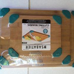 Sabatier Bamboo Cutting Boards Teal 3 Piece Set