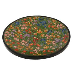 Serving Tray Platter For Fruits Paper Mache Colorful Artistic Accents Green Decor