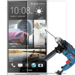 Htech 0.3Mm Ultra-Thin Tempered Glass Screen Protector For Htc One Max With 9H Hardness/Perfect Anti-Scratch/Shatterproof/Fingerprint & Water & Oil Resistant (Htc One Max)