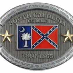 Hogar Zinic Alloy Flag Belt Buckle Dec 20 1860 Buckles Color Antique Silver
