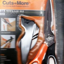 Fiskars Cuts + More Titanium All Purpose Scissors W/ Sharpener And Take Apart Knife
