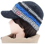 (チャムス) CHUMS ボーダー ワーク ニットキャップ ブラックティール 帽子 Heather Border Work knit Cap キャップ