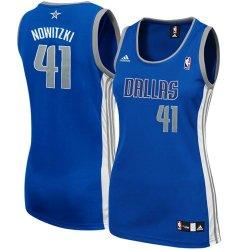 Nba Adidas Dirk Nowitzki Dallas Mavericks Women'S Fashion Jersey-Royal Blue (Medium)