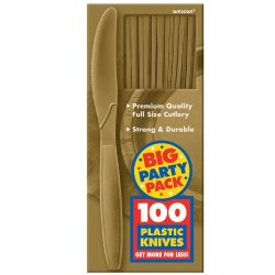 Gold Big Party Pack - Knives (100 Count) Party Accessory