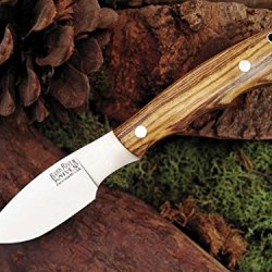 Bark River Mini Canadian Fixed Blade Knife,2.75In,A-2 Tool Steel Blade,Bocote Wood 133Wb Amb