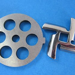 "1/2"" (12Mm) Disc And Knife For Waring Pro Nesco, Kalorik, Sunmile, Oster, Rival, Back To Basics Meat Grinder"