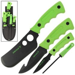 New 4Pc Zombie Killer Big Game Hunting Knife Set Wg1003