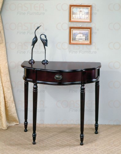 Image of Classic Console Table In Cherry Finish (B003XRFPWA)