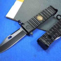 Collection Buck Folding Knife With Navyseals Symbol Mark
