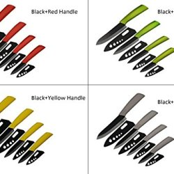 "3"" 4"" 5"" 6"" Inch Ceramic Knife Set Kitchen Knives Black Blade Black Colors Handle With Sheath Zirconiautility Chef Craving Cooking Tools Black"