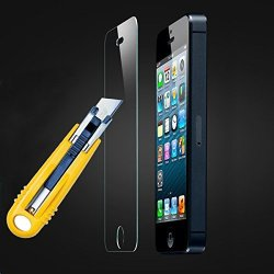 Etech Collection 1 Piece Of Premium Tempered Glass Screen Protector For Iphone 4/4S -- Highest Quality Premium Anti-Scratch Bubble-Free Reduce Fingerprint No Rainbow Washable Screen Protector Easy Install Product [0.33Mm, 2.5D Rounded Edges] - Free Shippi