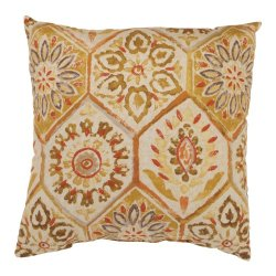 Pillow Perfect Summer Breeze 16.5-Inch Throw Pillow, Gold