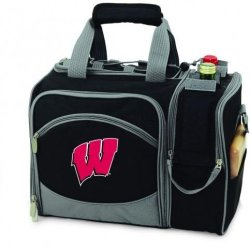 Wisconsin Badgers Malibu Insulated Picnic Shoulder Pack/Bag - Burgundy W/Embroidery