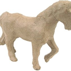 "Paper Mache Figurine 4.5""-Trotting Horse *** Product Description: Paper Mache Figurine 4.5""-Trotting Horsedecopatch-Paper Mache Figurine. This Figure Is Fun For Decoration And Play. It Can Be Painted And Decorated How You Want To. This Package Co ***"