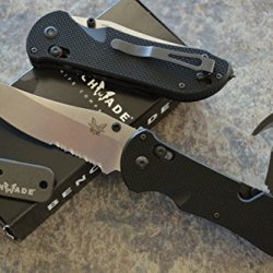 Benchmade 915S Triage Rescue Knife W/ Seatbelt Cutter / Glass Breaker Tip And A Free Benchmade Mini Sharpener