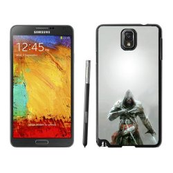 Diy Assassins Creed Knifes Hood Look Fur Note 3Black Phone Case