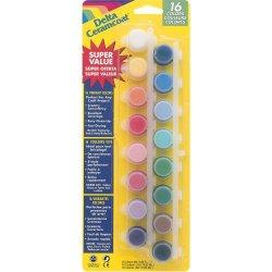 Plaid 16 Colors Delta Ceramcoat Paint Pot Super Value Set