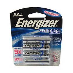 Energizer Aa High Energy Lithium Battery - 4 Pack
