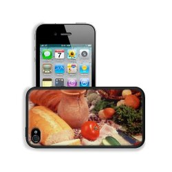 Cucumber Bread Tomato Baked Goods Herbs Knife Apple Iphone 4 / 4S Snap Cover Premium Leather Design Back Plate Case Customized Made To Order Support Ready 4 7/16 Inch (112Mm) X 2 3/8 Inch (60Mm) X 7/16 Inch (11Mm) Liil Iphone_4 4S Professional Cases Touch