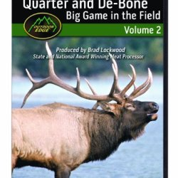 Outdoor Edge Qd-101 Quarter And De-Bone Big Game In The Field Dvd Volume 2 Cut Off All Meat On The Spot And Save Carry Weight