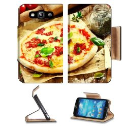 Pizza Dish Food Spices Tomatoes Cheese Dough Knife Fork Samsung Galaxy S3 I9300 Flip Cover Case With Card Holder Customized Made To Order Support Ready Premium Deluxe Pu Leather 5 Inch (132Mm) X 2 11/16 Inch (68Mm) X 9/16 Inch (14Mm) Liil S Iii S 3 Profes