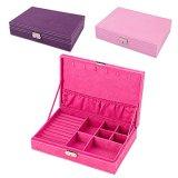 Fusseln-Jewelry-Box-Organizer-Display-Speicher-Tasche-mit-Schloss-und-Schlssel