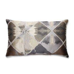 Pillow Perfect Love In Graphite Rectangular Throw Pillow, Grey