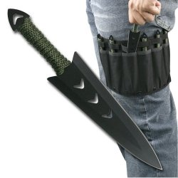 "6 Pcs 6"" Throwing Knife Set With Sheath"