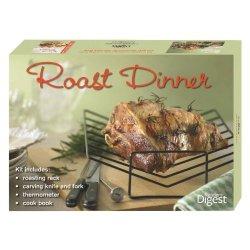 Reader'S Digest - Roast Dinner Set: Includes Rack, Knife, Fork, Thermometer, & Cookbook.