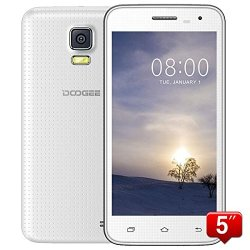 "Doogee Voyager2 Dg310 5"" Ips Fwvga Screen Mtk6582 1.3Ghz Quad Core Quadband Dual Sim Dual Standby Anroid4.4 Ram 1G Rom 8G Cellphone Mobile Phone 3G Phone Smartphone With Smart Wake Wifi 5.0Mp 13.0Mp Camera Gps Bluetooth 4.0 (White)"