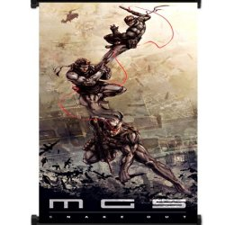 """Metal Gear Solid Game Fabric Wall Scroll Poster (16""""X36"""") Inches"""