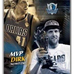 Dirk Nowitzki Mvp Framed Poster - Quality Silver Metal Frame 22 X 34