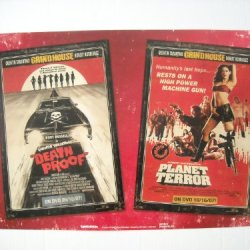 Grindhouse Planet Terror, Death Proof, And Machete Triple Feature 13.5 X 20 Inch Original Promotional Movie Poster