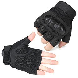 E-Prance Outdoor Fingerless Military Tactical Gloves For Airsoft Hunting Riding Game Color Black Size L