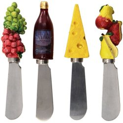 Boston Warehouse Wine And Cheese Spreader, Set Of 4