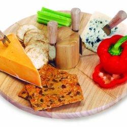 Picnic Plus Salerno Cheese Board Wood 14 X 1 - Picnic Plus Psm-174