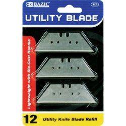 Bazic Utility Knife Replacement Blade, 12 Per Pack