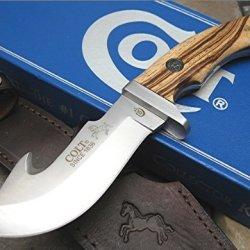 Colt Knives 7Z Serengeti Skinner Fixed Blade Knife With Zebra Wood Handles