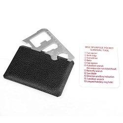 1X Multipurpose Pocket Survival Tool Mini Multi-Function Tool Card Silver Opener