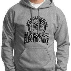 A Few Men Become Electricians Premium Hoodie Sweatshirt Xl Light Steel