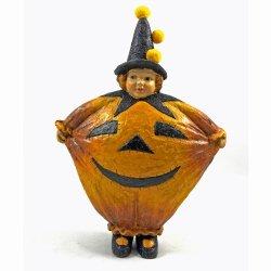Halloween Decorations - Pumpkin Witch - Halloween Figurine - Girl In Pumpkin Halloween Costume