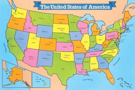 united states map giant floor puzzle (0867342943) | amazon