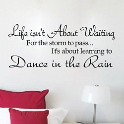 Lsd New Life Dance Rain Quote Motto Diy Art Vinyl Wall Sticker Decal Removable Transfer Home Bedroom Decor Mural Decorations Hot