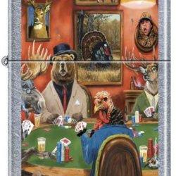 Zippo Custom Lighter - Linda Picken Artist Big Game Poker Rare!