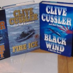 Polar Shift, Fire Ice (A Novel From The Numa Files) & Black Wind & Valhalla Rising (A Dirk Pitt Novel) By Clive Cussler (4 Hardbacks)