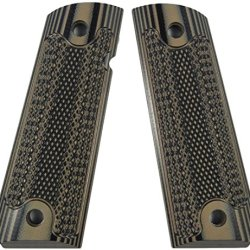 Lok Grips Checkered Classic 1911 Grips Standard Full Size Commander (Brown-Black)
