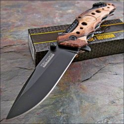 Tac Force Brown Camouflage Rescue Tactical Pocket Knife